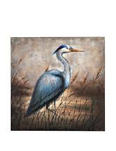 Bombay Blue Egret Wall Canvas