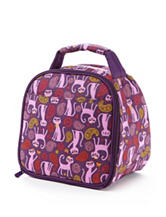 Fit & Fresh Gabby Paisley Cat Print Insulated Lunch Bag