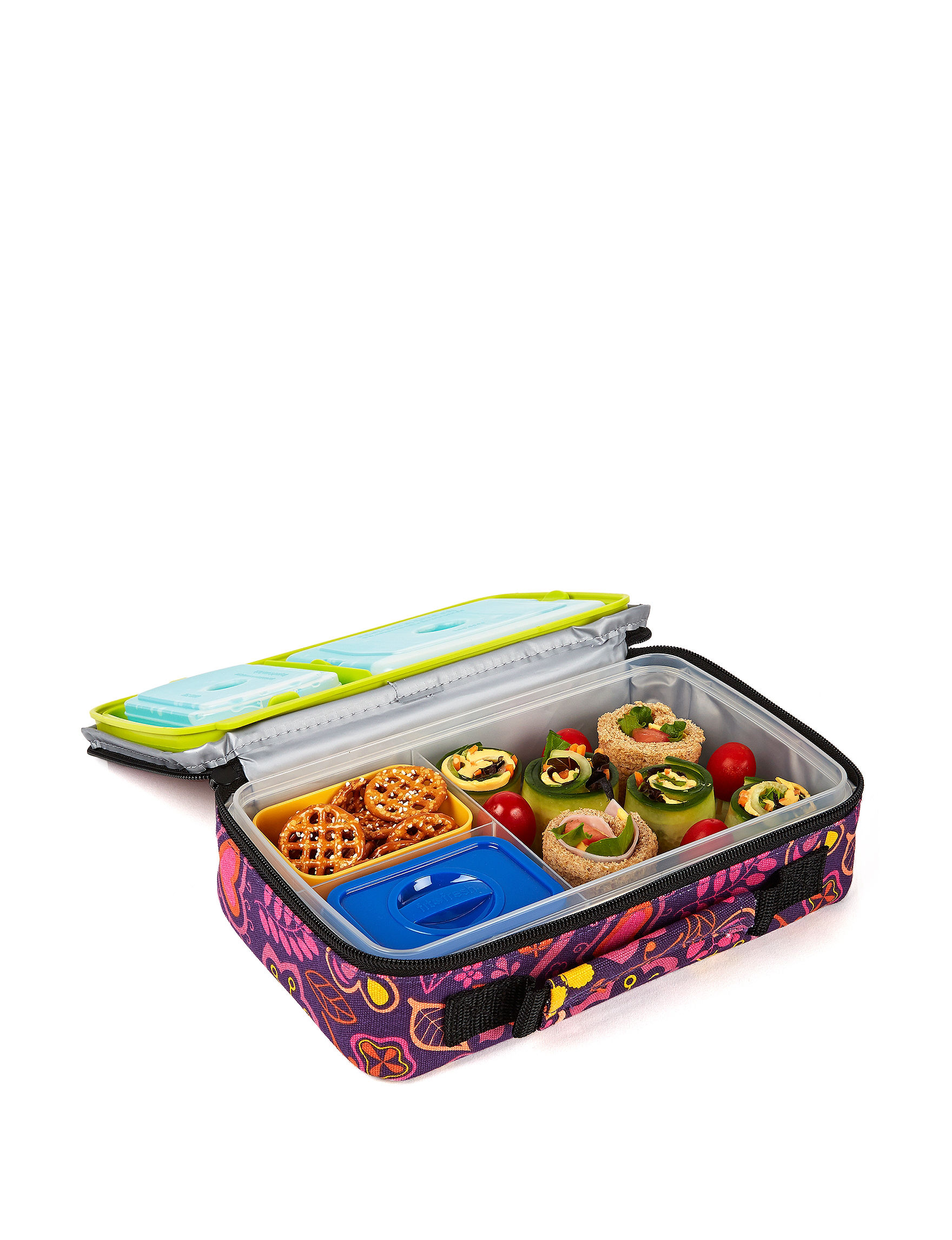 Fit & Fresh Purple Lunch Boxes & Bags Kitchen Storage & Organization