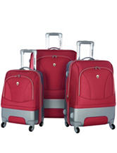 Olympia USA 3-pc. Majestic Red Hybrid Luggage Set