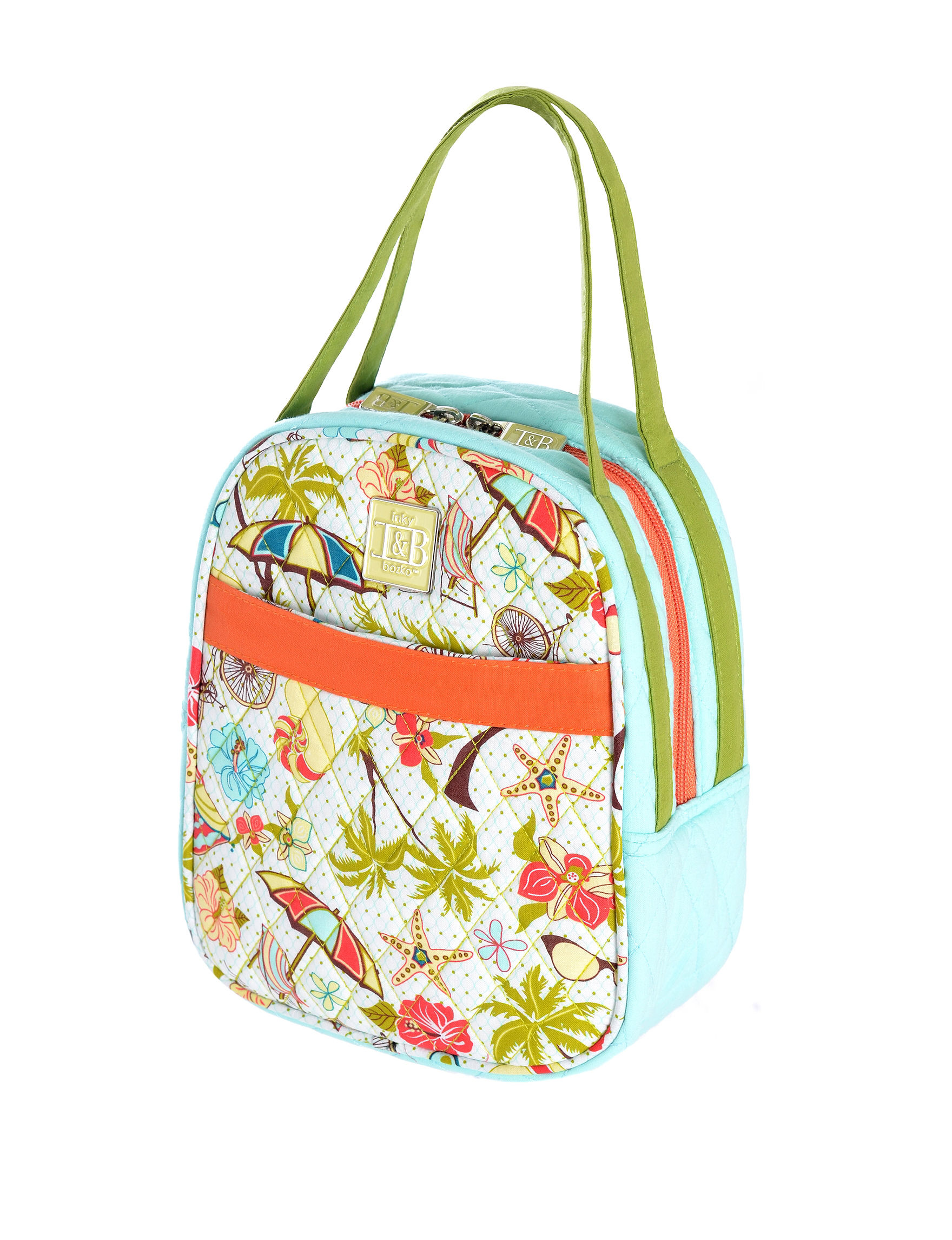 Inky & Bozko Blue / Green Lunch Boxes & Bags Travel Totes