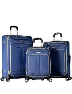 Olympia Blue Luggage Sets Upright Spinners
