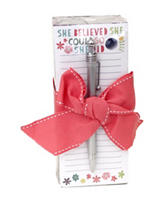 Tri Coastal She believed Notepad & Pen Set