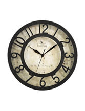 FirsTime Manufactory Metallic Raised Number Wall Clock
