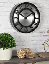 FirsTime Manufactory Black On Steel Wall Clock