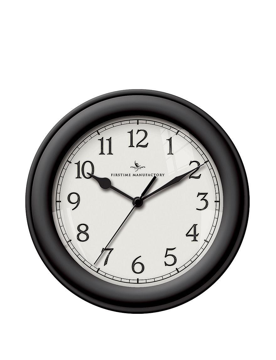 Firstime Manufactory Black Desk Clocks Wall Clocks Wall Decor