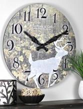 FirsTime Forest Deer Wall Clock