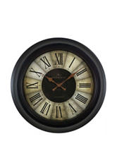 FirsTime Divided Amber Wall Clock