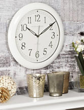 FirsTime White Slim Wall Clock