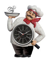 FirsTime French Chef Wall Clock