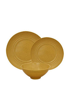 Gourmet Home 12-pc. Yellow Dinnerware Set
