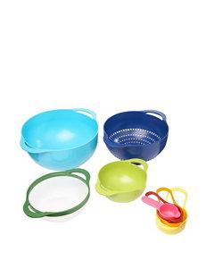 Gourmet Home Blue Mixing Bowls Prep & Tools