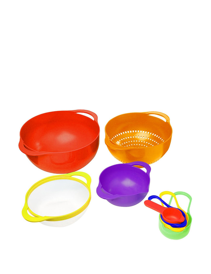 Gourmet Home Red Mixing Bowls Prep & Tools