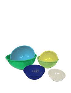Gourmet Home Green Mixing Bowls