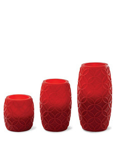 Apothecary 3-pc. Red Flameless Candle Set