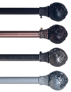 Lavish Home Pewter Curtain Rods & Hardware