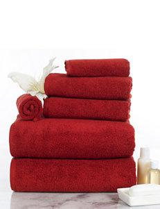 Lavish Home Burgundy Bath Towels Towels