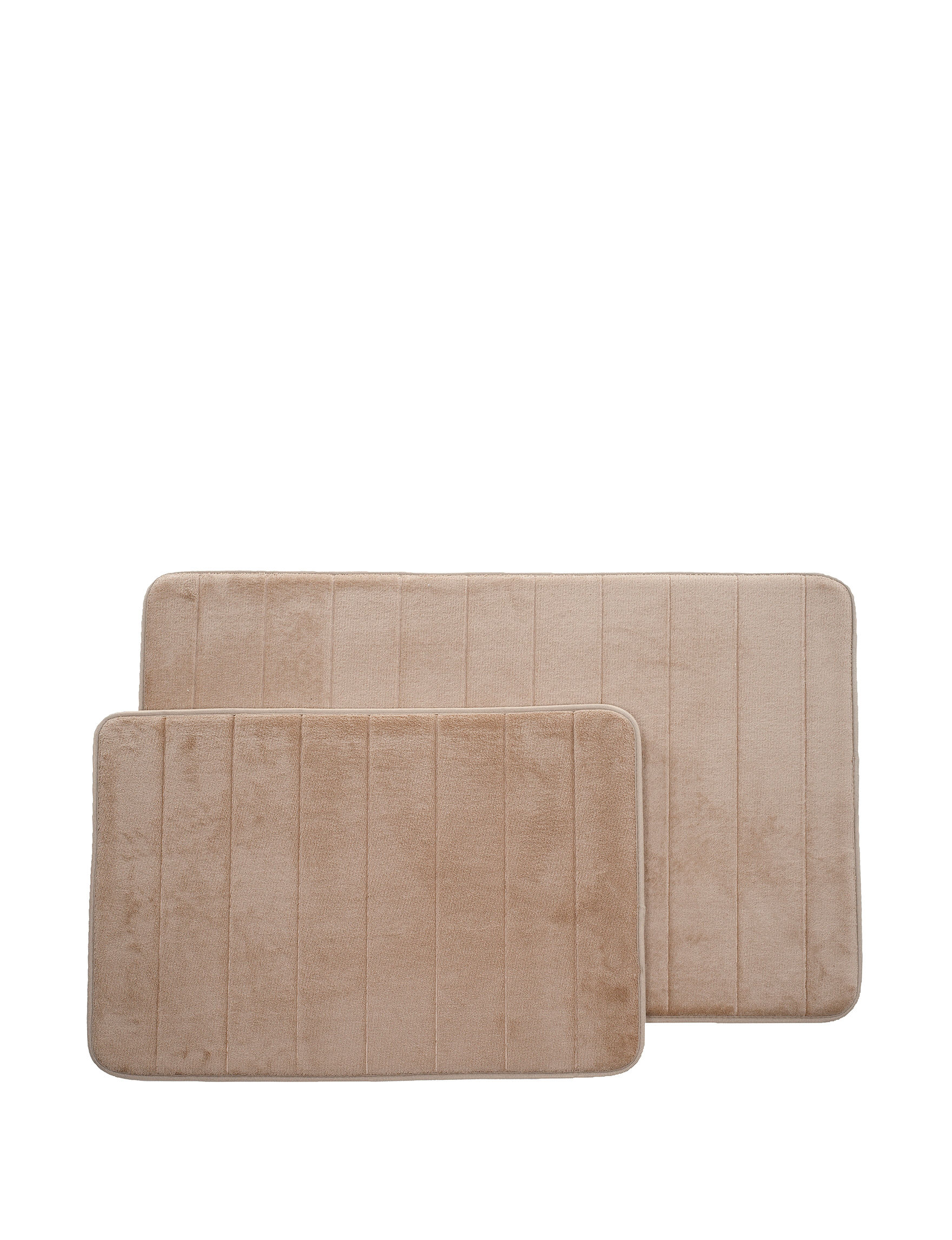 Lavish Home Taupe Bath Rugs & Mats