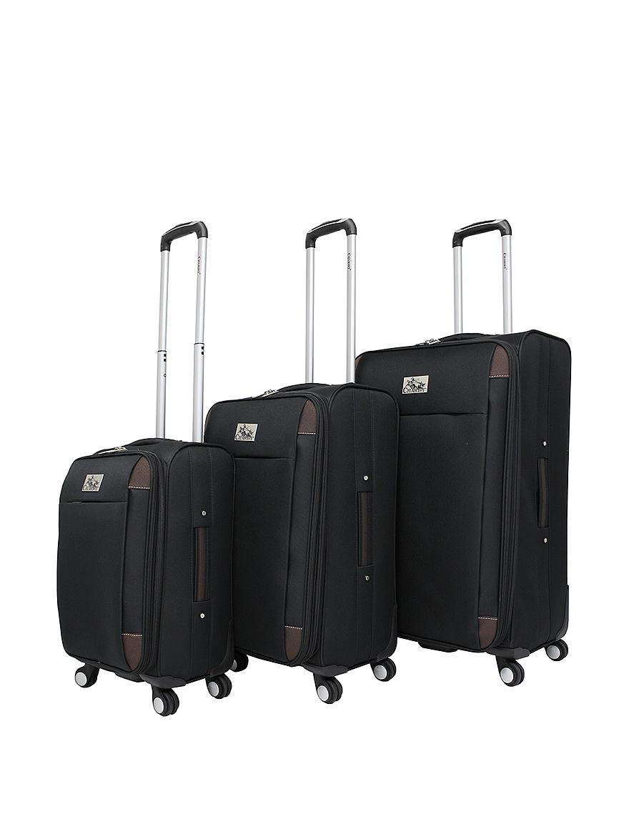 Chariot Travelware Black / Brown Luggage Sets