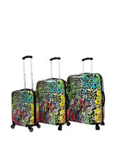 Chariot Travelware 3-pc. Hardside Safari Design Luggage Set