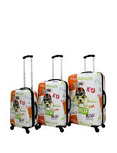 Chariot Travelware 3-pc. Hard-Side Dog Print Luggage Set