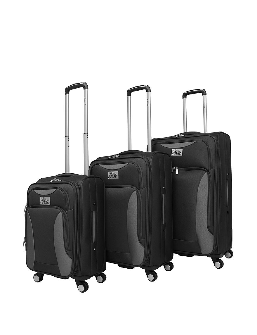 Chariot Travelware Black Luggage Sets