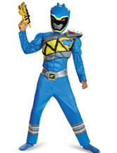 2-pc. Kids Power Rangers Dino Charge Blue Ranger Muscle Costume