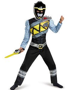 2-pc. Kids Power Rangers Dino Charge Black Ranger Muscle Costume