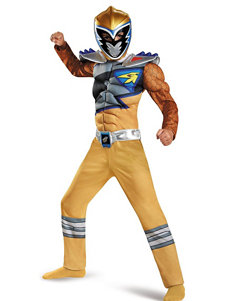 2-pc. Kids Power Rangers Dino Charge Gold Ranger Muscle Costume