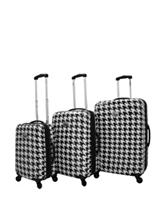 Chariot Travelware 3-pc. Houndstooth Hard-Side Luggage Set