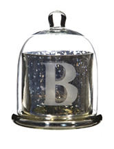 Home Essentials Monogram Silver Cloche