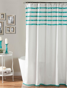 Lush Decor Aqua Shower Curtains & Hooks