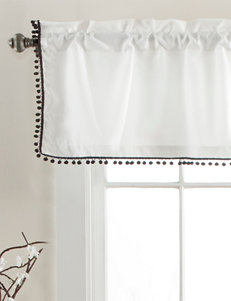Lush Decor Black Valances Window Treatments