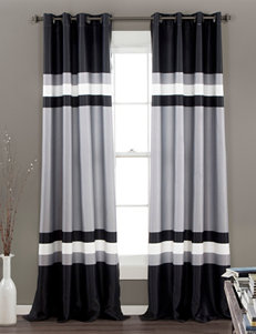Half Moon Black Curtains & Drapes