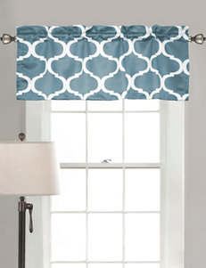 Half Moon Blue Valances Window Treatments