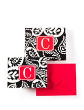 Tri Coastal Monogram Note Card Set