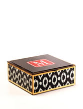 Tri Coastal Monogram Glass Jewelry Box