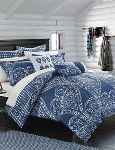 Chic Home Design 12-pc. Perugia Navy Overfilled Comforter & Sheet Set