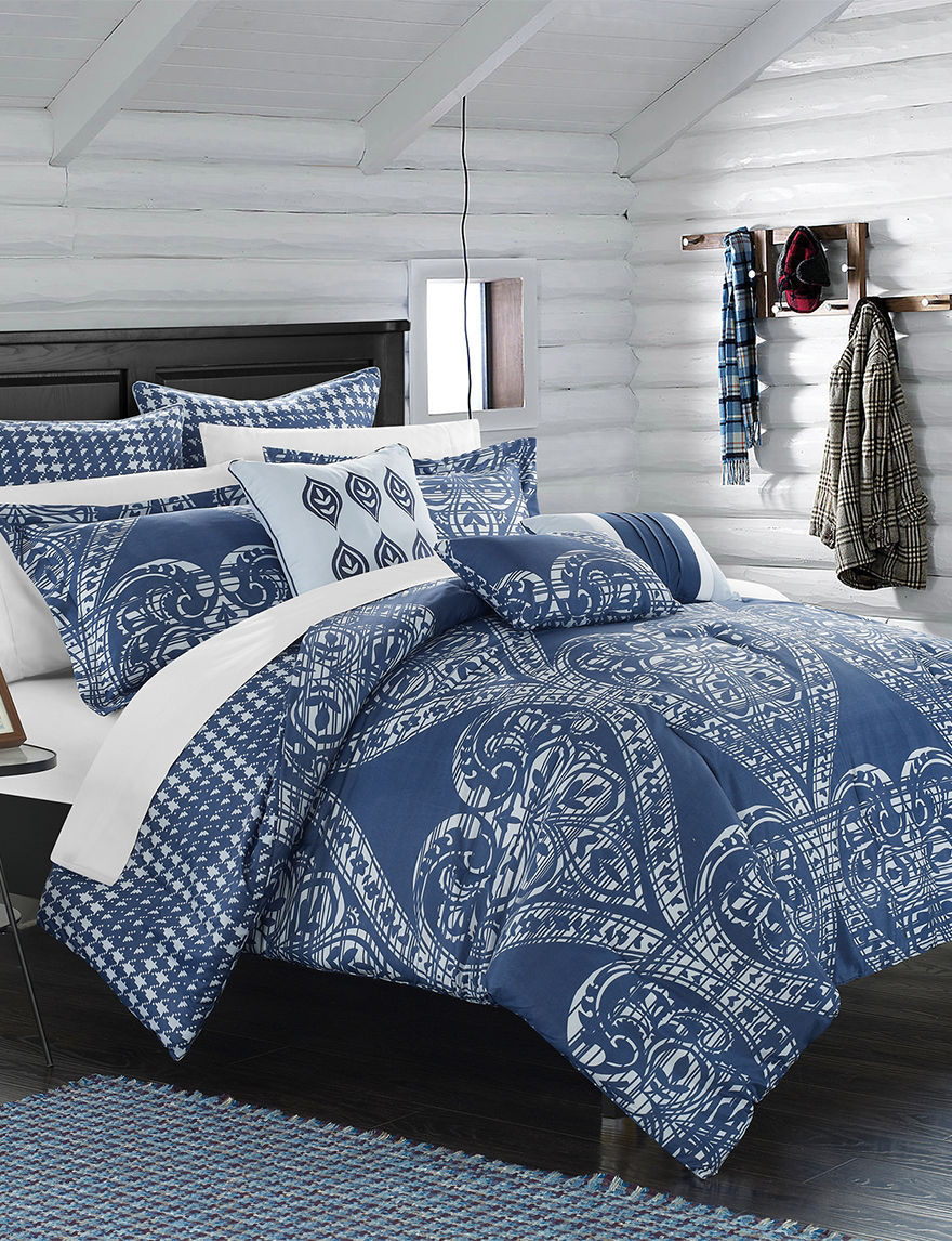 chic home design 12 pc perugia navy overfilled comforter chic home design ritchelle comforter set stage stores