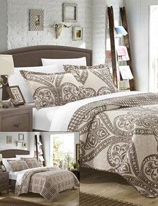 Chic Home Design Perugia Beige Reversible Print Quilt Set
