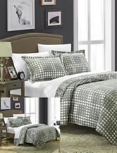 Chic Home Design Terni Silver Reversible Print Quilt Set