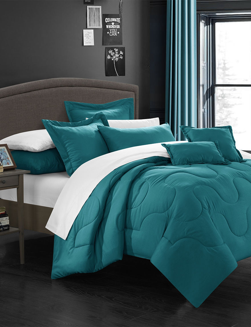 Chic Home Design Direllei Collection Teal Down Alternative Bed Sets Stage Stores