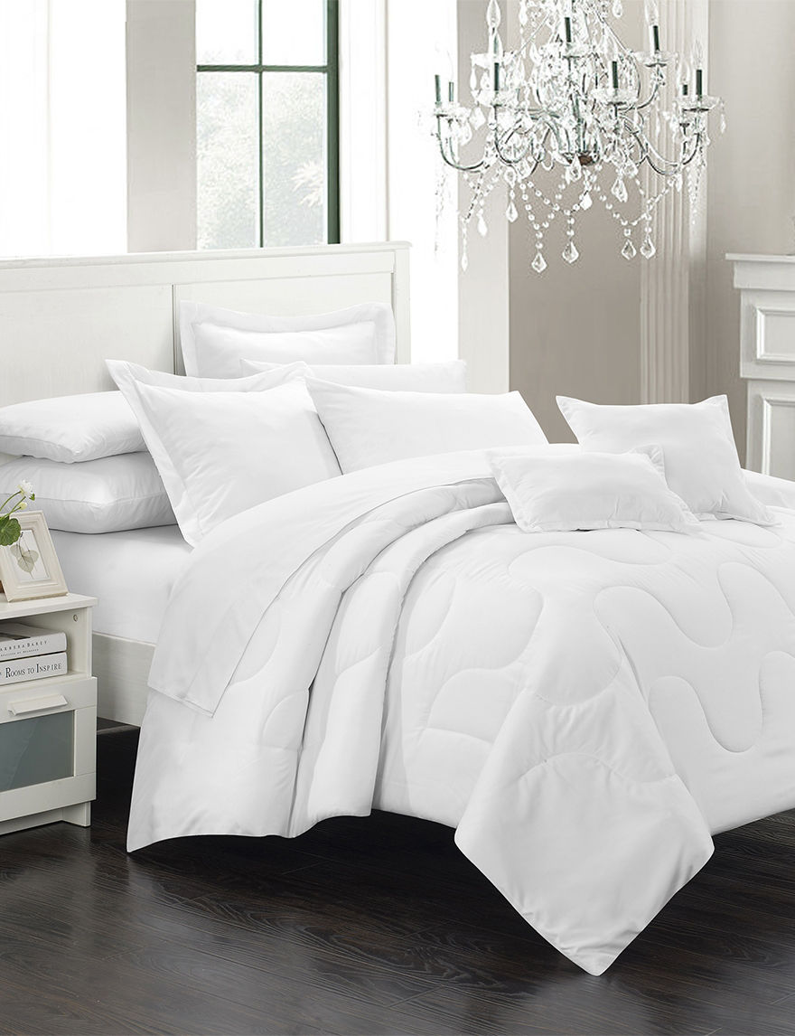 Chic Home Design White Down & Down Alternative Comforters