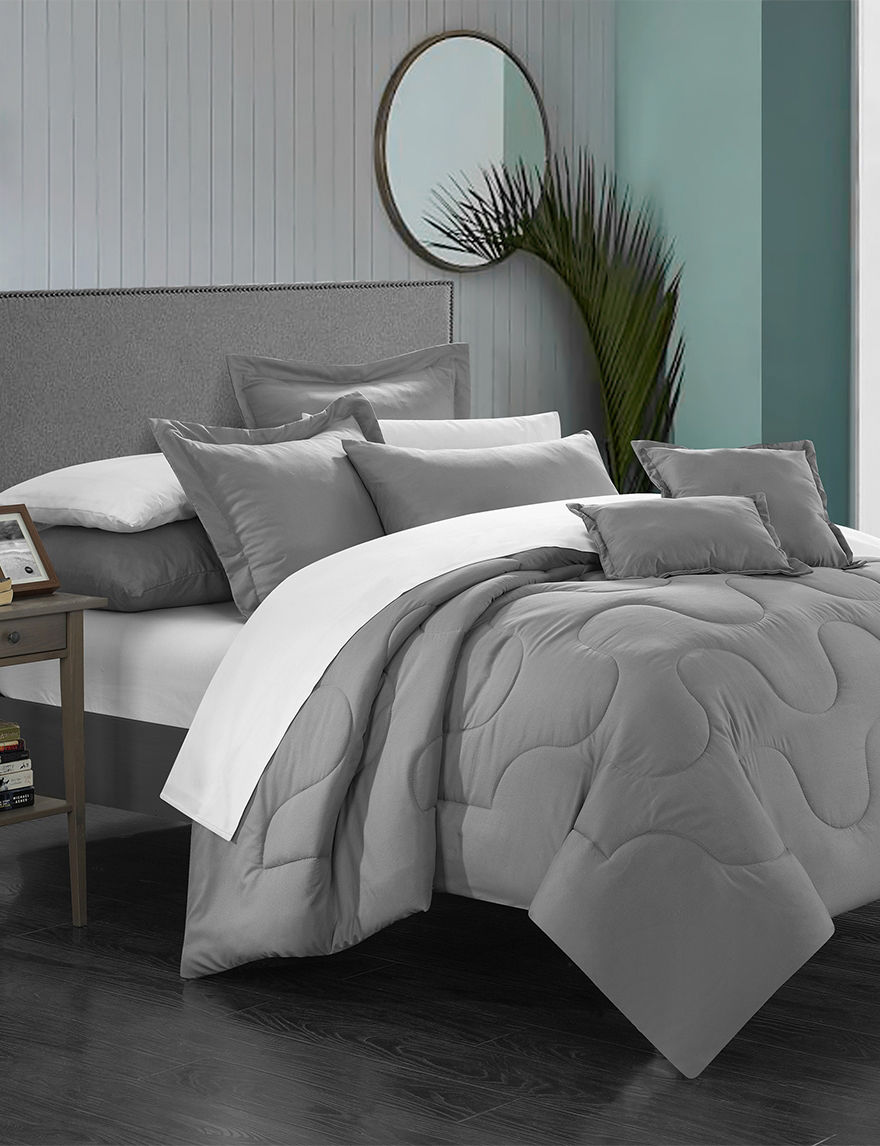 chic home design 11 pc direllei collection silver alternative bed sets stage stores