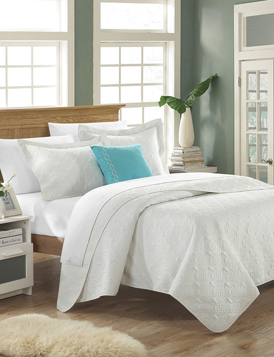 Chic Home Design White Quilts & Quilt Sets