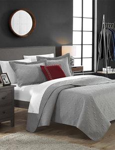 Chic Home Design 8-pc. Argeles Collection Grey Quilt Set
