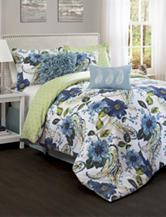 Lush Decor 7-pc. Blue Floral Paisley Print Comforter Set