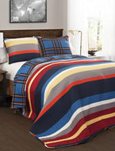 Lush Decor Cliveden Stripe Quilt Set