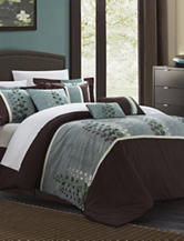 Chic Home Design 8-pc. Brown Evania Oversized Bed Set