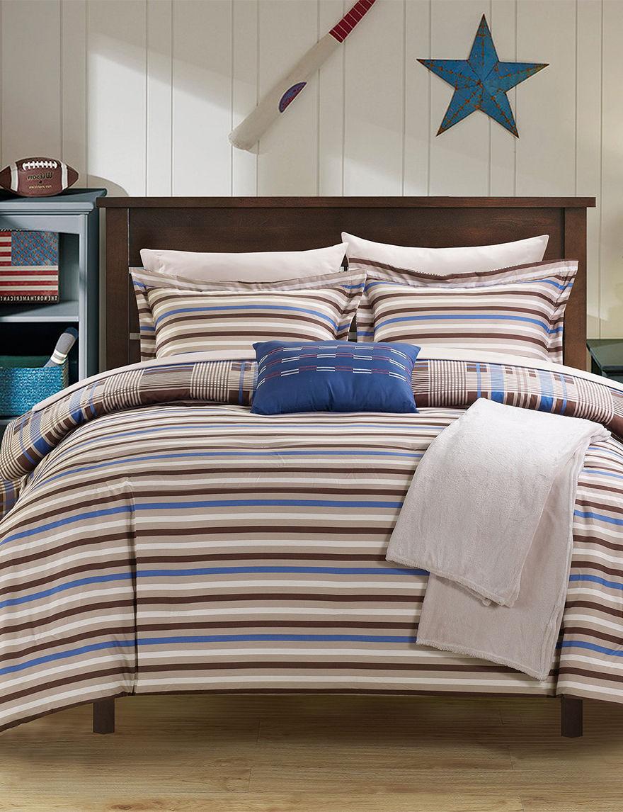 chic home design brown cambridge stripe reversible home design comforter home design home decorating